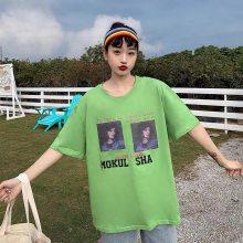 夏季韩版女士短袖T恤 数码印花女T恤打底衫门市地摊货网