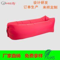 Greatly单口单层尼龙方形充气沙发睡袋_东莞隽业专业生产定制