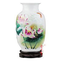 景德镇陶瓷花瓶摆件 景德镇大师手绘陶瓷花瓶合元堂