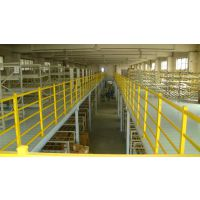 供应,广东省大型仓库6094手动机械阁楼式重型货架系统
