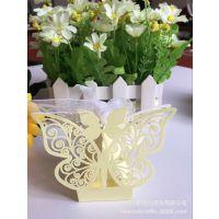 激光镂空蝴蝶喜糖盒婚礼派对用品 厂家直销婚庆用品糖果盒批发