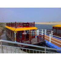 景区木质游船 12米双层观光画舫船 观光船厂家