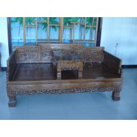 西安仿古实木罗汉床、老榆木罗汉床、中式红木贵妃榻、定做厂家