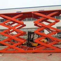 山东青岛高空作业维修平台车 固定车载式剪叉升降机 电动液压升降平台
