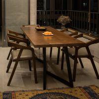 欧美复古铁艺实木酒吧咖啡厅西餐厅奶茶店家用餐厅桌椅组合