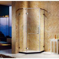 碧海定制淋浴房一字形屏风隔断简易钢化玻璃移门式厂家直销
