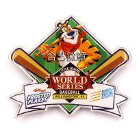 赛事徽章、棒球比赛徽章、世界棒球系列赛徽章定制、马口铁印刷徽章