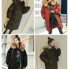 冬装新款羽绒棉服女 韩版连帽长袖中长款显瘦棉衣棉服外套女