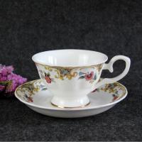 浩新瓷业厂家批发骨质瓷咖啡杯碟 陶瓷英式咖啡杯 下午茶礼品套装