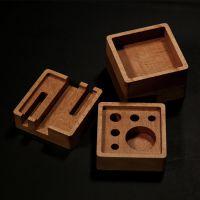 匠木家居匠木家居榉木整木桌面文具收纳四方盒创意设计实木手机架