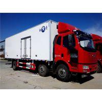 前四后四8.6米冷藏车价格,解放j6冷藏车报价,锡柴220马力冷藏保鲜运输车