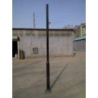供应4米监控杆 140 4.5厚 2台球机