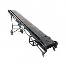 兴亚定做防滑式皮带输送机 万向轮爬坡升降带式皮带机
