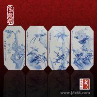 景德镇青花仿古瓷板画 可定制陶瓷瓷板画厂家