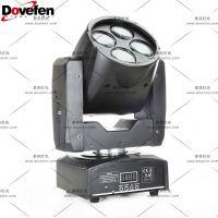 多芬4颗10W LED摇头灯迷你光束灯,适用于酒吧,迪厅,俱乐部,夜场,KTV包房,小型剧场