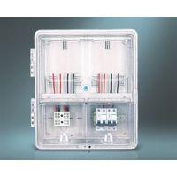 原厂直销光伏并网箱单相2户插卡预付费电能计量透明塑料电表箱