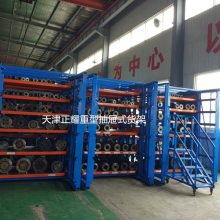 江苏伸缩抽屉式货架设计 短管料头存放方法 管材存放货架