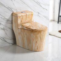 潮州陶瓷卫浴家装欧式彩色连体马桶座便器
