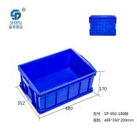 耐热耐腐蚀PP蓝色防静电周转箱1号箱 重庆厂家批发