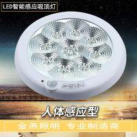 金燕人体感应灯 感应吸顶灯 楼道感应灯 红外感应灯 LED声控灯