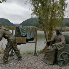 铸铜蔡顺拾葚异器场景雕塑像汉代孝子玻璃钢肖像古代24孝人物雕塑人造石汉白玉圆雕塑像
