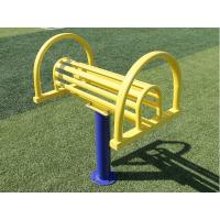 护栏型健身器材双人位伸腰架老年人健身器材 公园户外花园运动路径 剑桥 铁