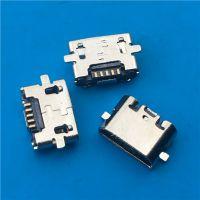 B型MICRO反向贴板5P母座 迈克USB SMT直边不锈钢 PCB-创粤