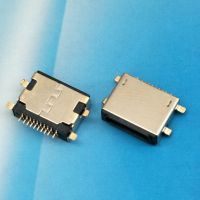 iphone沉板母座 沉板0.8mm 前插后贴10PIN贴片式SMT黑色胶芯 -CY科技