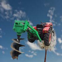 园林埋桩打坑机 启航大功率电线杆打眼机 汽油旋坑机