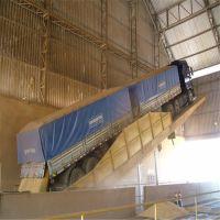 水泥厂卸车机 液压翻板车 电动运输车