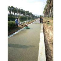 桓石 透水混凝土路面基础铺设完成 青海 西宁地区地坪材料配送技术服务