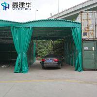 芜湖三山区电动伸缩雨棚布 大型工业帐篷 楼顶遮阳蓬产品设计