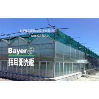芜湖合肥温室大棚生态餐厅拜耳8毫米阳光板厂家,含uv防雾滴抗老化十五年质保