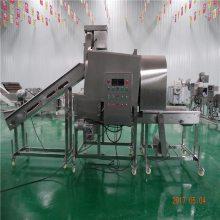 预裹粉机 滚筒式鸡腿上粉机 余粉可回收 循环粉上粉