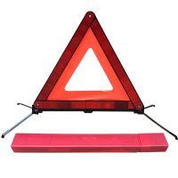 国标车用三角架警示牌 车载小红盒反光布三脚架 交通安全警示架