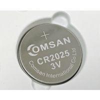 COMSAN/劲道纽扣电池CR2025电子表笔记本主板3D眼镜车钥匙遥控器计算器电池