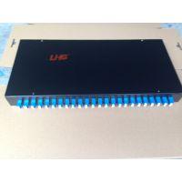 24位(口)LC-LC 48芯1U高密度光纤配线架 光纤配线盒