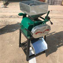 小型粮食挤扁机对辊拉丝豆扁机粮食加工机械挤扁机