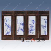 釉下青花陶瓷瓷板画 景德镇瓷板画厂家