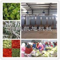 凯旭制造网带式姜片自动烘干机 萝卜条连续干燥机器