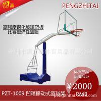 源头工厂 可定制 鹏之泰体育馨赢牌配钢化玻璃篮板成人户外移动篮球架厂家直销