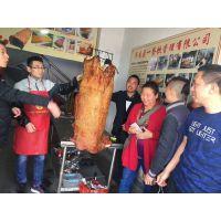 济南名贵特色小吃之一脆皮烤猪在肉是市场上享有美誉