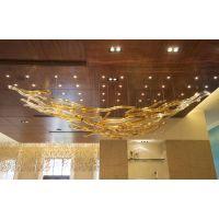 专业定制高端酒店大堂吹制玻璃吊LED灯