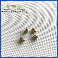 大量供应非标 黄铜压花圆螺母 压铆圆螺母 嵌件螺母 注塑螺母