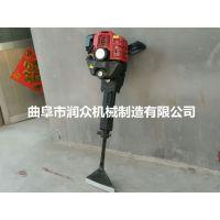 单人手持挖树机 润众 振动小挖树机