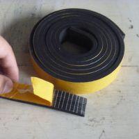 5MM厚黑色阻燃带胶氯丁橡胶密封条