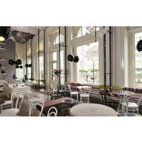 浙江宁波餐厅桌椅,北欧风快餐店食堂饭店可定制实木桌椅