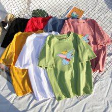 库存杂款处理地摊货源便宜衣工厂直销 外贸尾单清仓 女士空白T恤