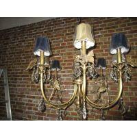 新款美式乡村客厅布罩LED灯