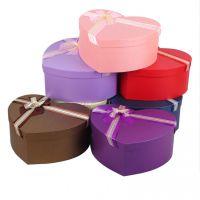 桃心盒心形爱心花盒鲜花包装盒纸盒玫瑰花花束礼盒花店用品3件套
